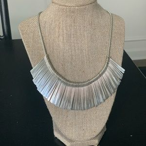 Stella & Dot Jewelry - Stella & Dot silver fringe necklace